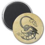 Gargoyles Monogram S 6 Cm Round Magnet