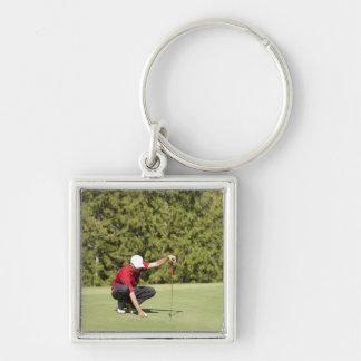 Garibaldi Springs Golf Course, Squamish, B.C. Silver-Colored Square Key Ring