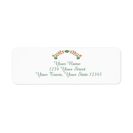 Garland Address Label