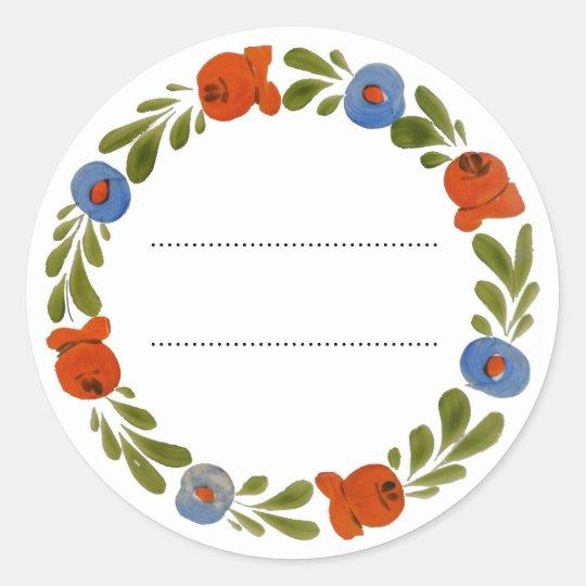 Garland Classic Round Sticker