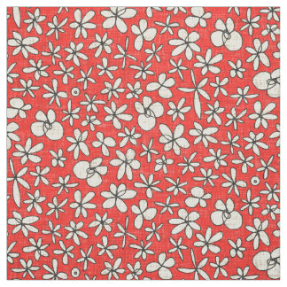 garland flowers red fabric