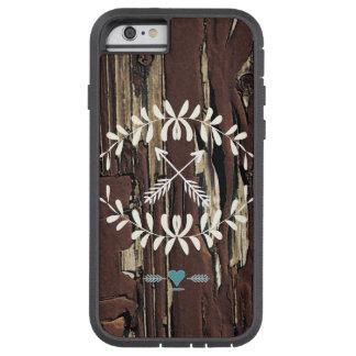 Garland Hearts Crossed Arrows Barnwood Retro Tough Xtreme iPhone 6 Case