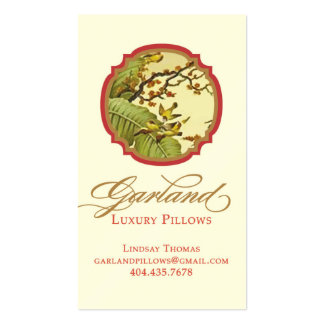 Garland Luxury Pillow Business Card Templates