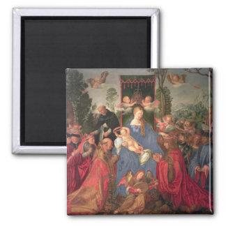 Garland of Roses Altarpiece, 1600 Square Magnet