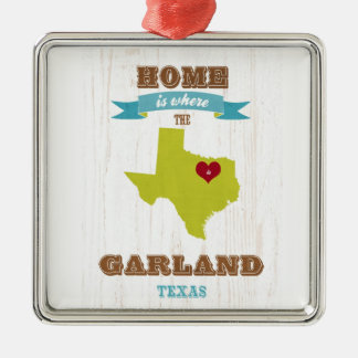 Garland, Texas Map – Home Is Where The Heart Is Christmas Ornament