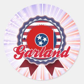 Garland TN Round Stickers