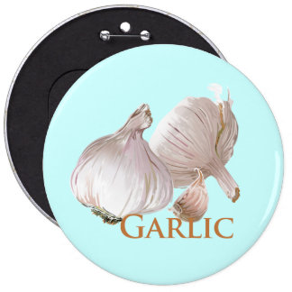 Garlic and Garlic Clove 6 Cm Round Badge