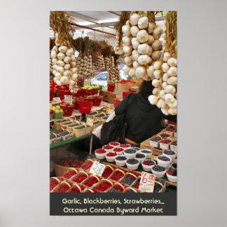 Garlic, Blackberries, Strawberries... Poster