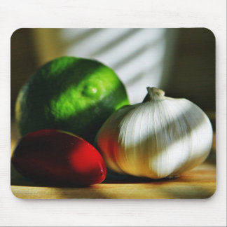 Garlic Bulbs Limes Chillies Peppers Chili Mousepad