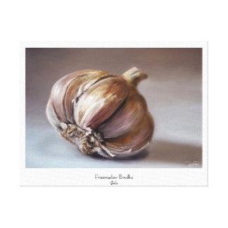 Garlic classic vegetable still life oil paint canvas print