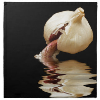 Garlic cloves of Garlic Napkin