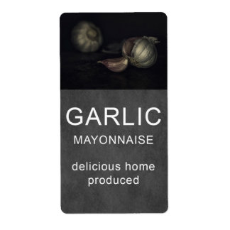 Garlic mayonnaise label shipping label