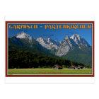 Garmisch - The Zugspitze and Alpspitze Postcard