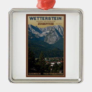 Garmisch - Zugspitze above Town Christmas Ornament