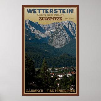 Garmisch - Zugspitze above Town Poster