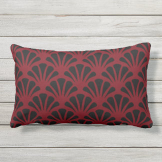 Garnet and Black Design Lumbar Cushion
