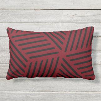 Garnet and Black Design Outdoor Cushion