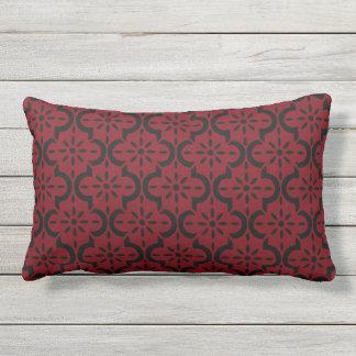 Garnet and Black Lumbar Cushion