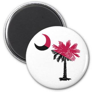 Garnet and Black Palmetto Magnet