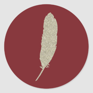 Garnet and Gold/Feather Sticker