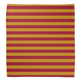 Garnet and Gold Stripes Bandana