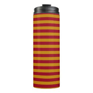 Garnet and Gold Stripes Thermal Tumbler