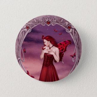Garnet Birthstone Fairy Button Badge