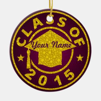 Garnet Class Of 2015 Graduation Ornaments