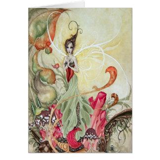 Garnet Faery Greeting Card