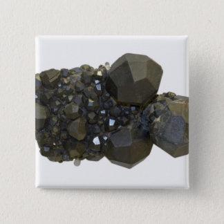Garnet in Natural Form 15 Cm Square Badge