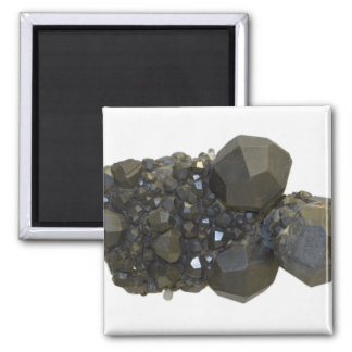 Garnet in Natural Form Square Magnet