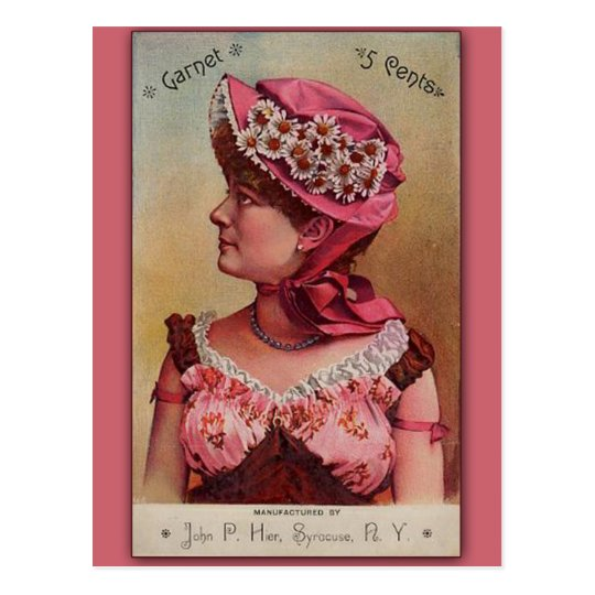 Garnet Vintage Victorian Art Card