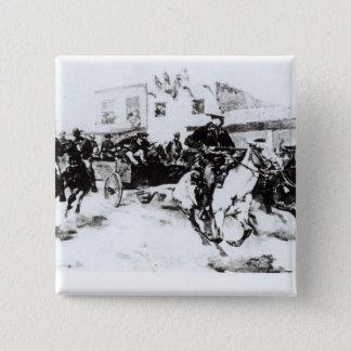 Garret brings in Billy the Kid, 1880 15 Cm Square Badge