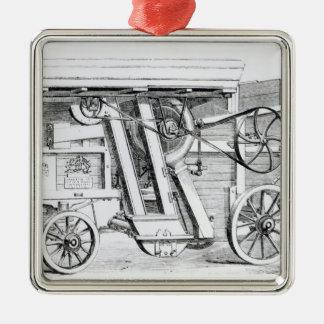 Garrett and Sons Patent Combined Threshing Christmas Ornament
