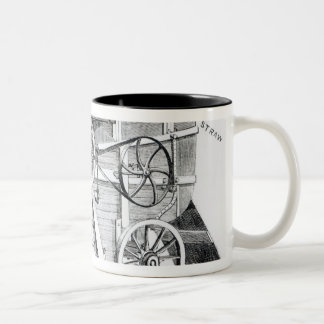 Garrett and Sons Patent Combined Threshing Two-Tone Coffee Mug