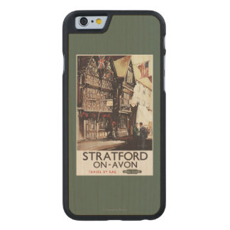 Garrick Inn and Harvard House Rail Poster Carved® Maple iPhone 6 Case