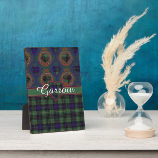 Garrow clan Plaid Scottish kilt tartan Plaque