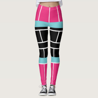 Garter Belt Suspenders Color Block Leggings