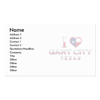 Gary City Texas Business Card Templates