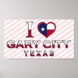 Gary City, Texas Poster