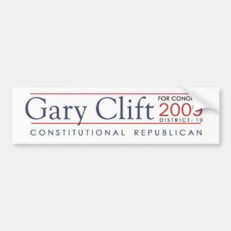 Gary Clift 2009 Special Election Constitutional Bumper Sticker