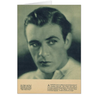 Gary Cooper 1930 portrait Card