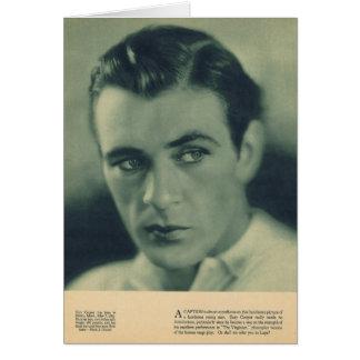 Gary Cooper 1930 portrait Greeting Card