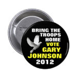 Gary Johnson 2012 peace 6 Cm Round Badge