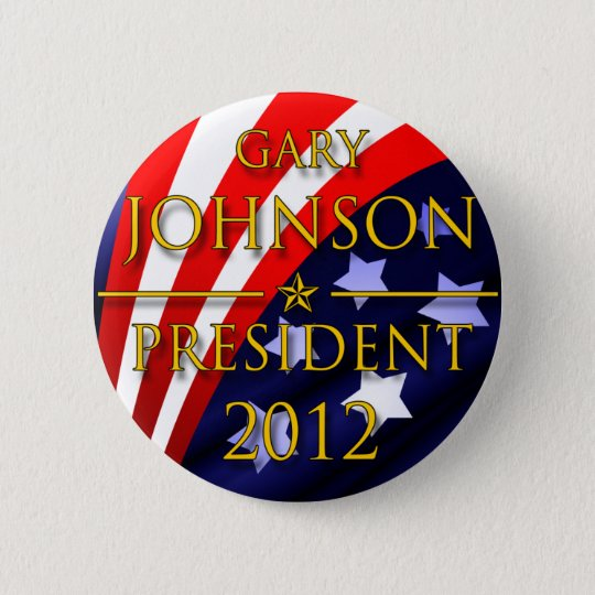 Gary Johnson 2012 Presidential Button