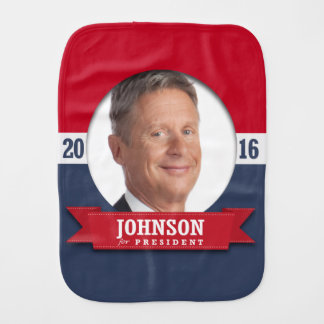 GARY JOHNSON 2016 BURP CLOTH