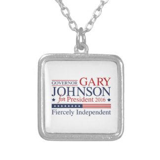 Gary Johnson 2016 Square Pendant Necklace