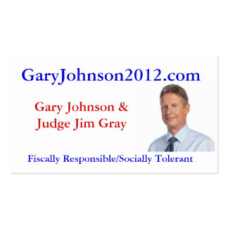 Gary Johnson Business Card