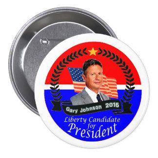 Gary Johnson for President 2016 7.5 Cm Round Badge