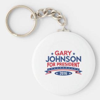 Gary Johnson For President Basic Round Button Key Ring